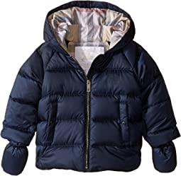 Burberry Kids Rilla Puffy Checked Hood Jacket (Infant/Toddler)