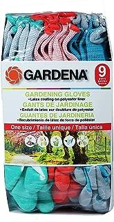 Gardena Gardening Gloves - Latex / Polyester - 9 Pairs