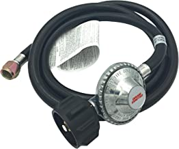 Gauge Master Premium 5 Foot Universal QCC1 Low Pressure LP Propane Regulator - BBQ Grill Replacement Hose fits Most LP Gas Grills, Heaters and Fire Pit Table - 3/8