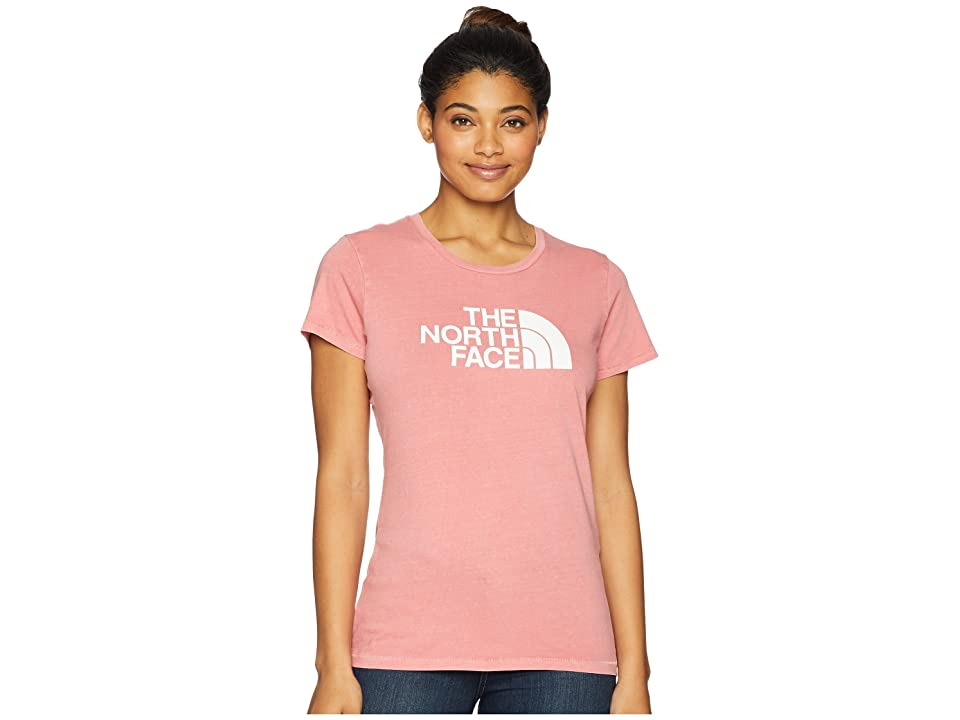 The North Face Short Sleeve 1/2 Dome Pigment Crew Tee (Faded Rose/TNF White) Women