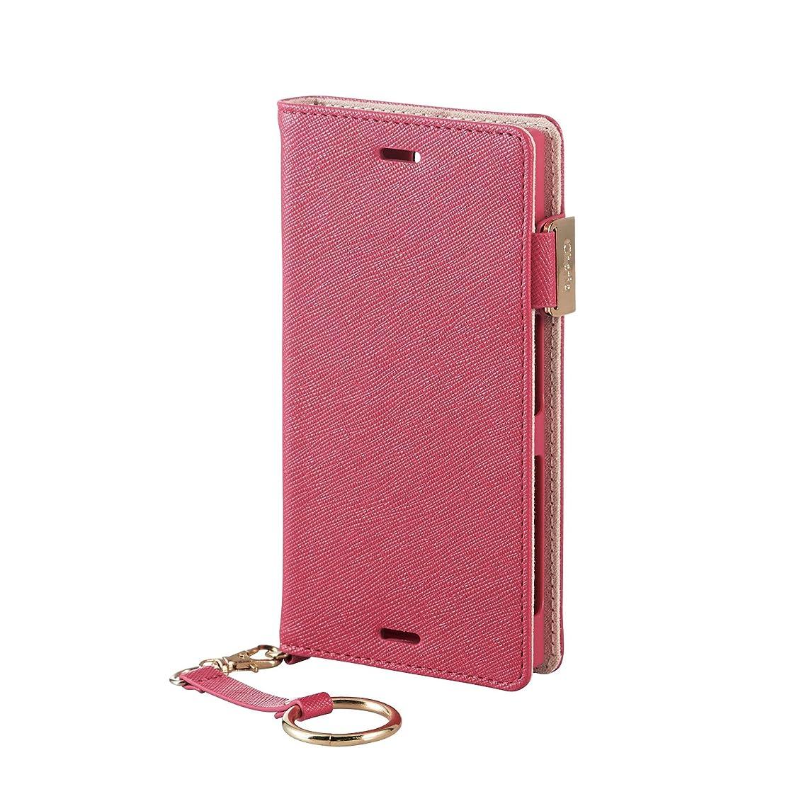 文化補助資格エレコム Xperia X Compact ケース SO-02J ソフトレザーカバー 女子向 磁石付 ピンク PM-SOXCPLFJMPND