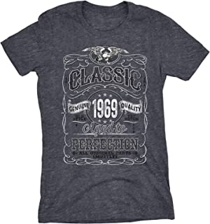 50th Birthday Gift Womens Shirt - Classic 1969 Aged to Perfection