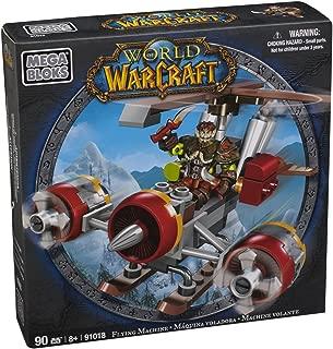 Mega Bloks World of Warcraft Flying Machine and Flint (Alliance Gnome Rogue)