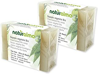 Jabón artesanal vegetal ÁRBOL DE TÉ Y ACEITE DE NEEM Bio 2 X 100g Naturalma baja temperatura vegetariano