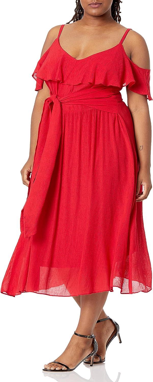 City Chic Women's Apparel Women's Plus Size Dress Romantic Tie