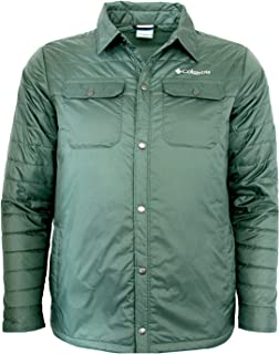 Columbia Men's Mt. MicKinley Shirt Water Resistant Light Insulated Jacket (M, Green)