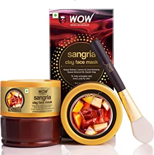 WOW Skin Science Sangria Face Mask for Energizing Dull, Tired, Patchy Skin - For All Skin Types - No Parabens, Sulphate & Mineral Oil - 200mL