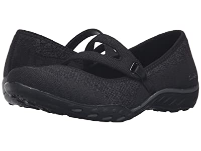 SKECHERS Active Breathe Easy Lucky Lady (Black) Women