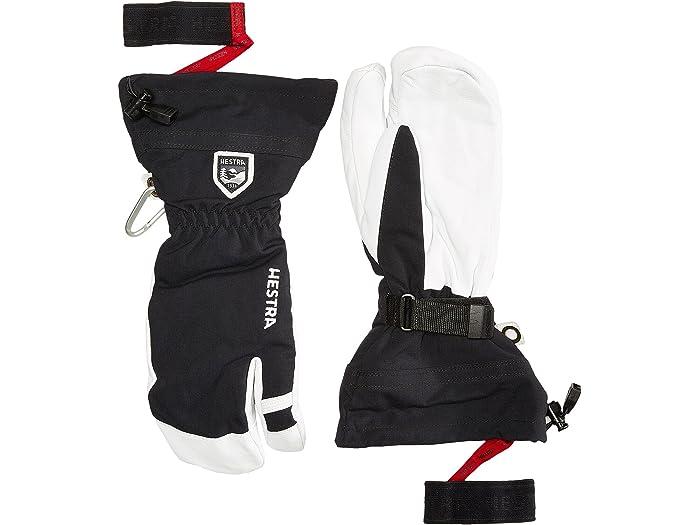 Hestra Army Leather Heli Ski 3 Finger Zappos Com