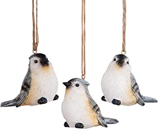 GALLERIE II Tufted Titmouse Ornament, Assorted of 3