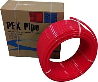VIVO 5/8 inch x 500 feet Pex Tubing Oxygen O2 Barrier EVOH, Pex-B Red 500 feet for Radiant Floor Heat (PEX-58H-R050)