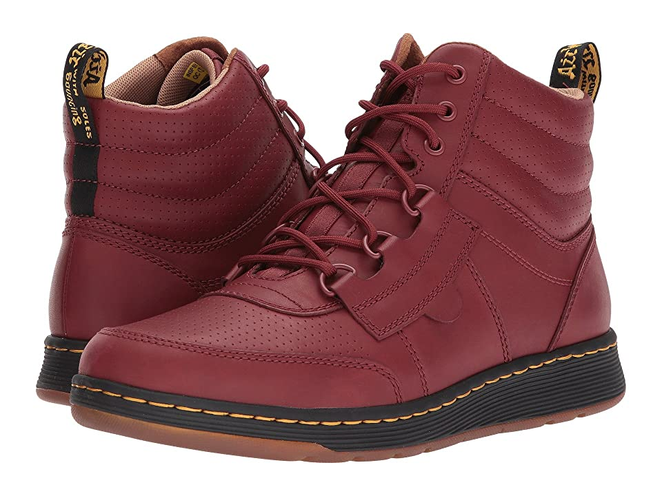 Dr. Martens Derry 6-Eye Chukka Boot (Cherry Red Temperley/Cherry Red Webbing) Men