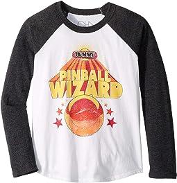 "Extra Soft ""The Who"" Pinball Star Long Sleeve Raglan Tee (Toddler/Big Kids)"
