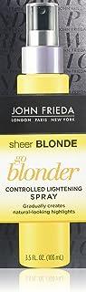 John Frieda Sheer Blonde Go Blonder Lightening Spray, 3.5 Ounce Controlled Hair Lightener, to Gradually Lighten Hair, with Citrus and ChamomileBlondMend Technology