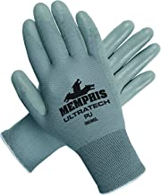 MCR Safety 9696M UltraTech Nylon Shell Gloves with Straight Thumb, Gray, Medium, 1-Pair