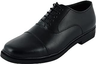 XY HUGO 8822 Police Shoe Black Men's Leather Formal Shoes