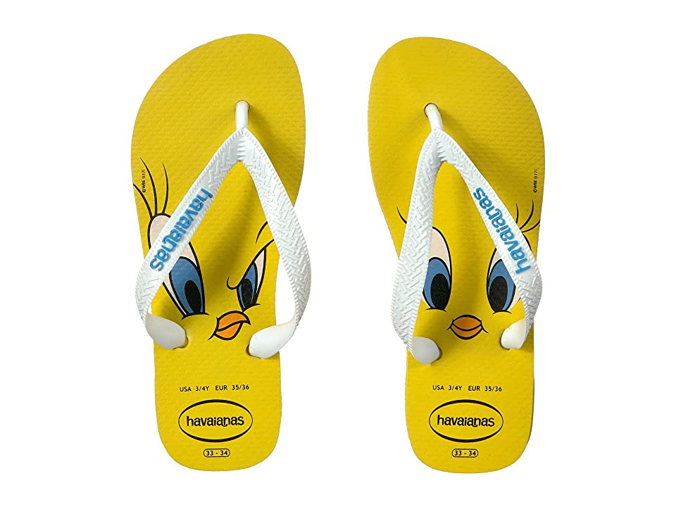 Havaianas Kids Looney Tunes Sandal (Toddler/Little Kid/Big Kid) (Citrus Yellow) Kids Shoes