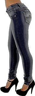 Plus/Junior Size Colombian Design Butt Lift Levanta Cola Skinny Jeans