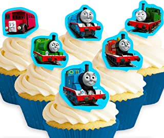 Cakeshop 12 x PRE-CUT Thomas the Tank Engine & Friends Stand Up Edible Cake Toppers