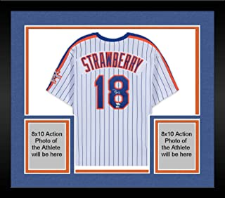 Framed Darryl Strawberry New York Mets Autographed Mitchell and Ness White 1986 World Series Jersey - Fanatics Authentic Certified