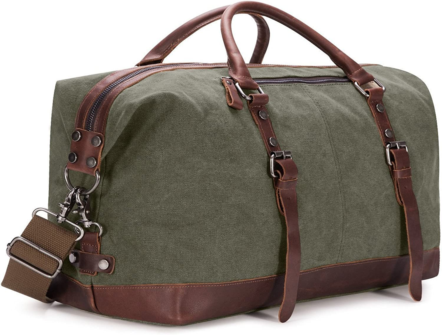 BAOSHA Canvas PU Leather Travel Tote Soldering Duffel Carry Super intense SALE Wee on Bag