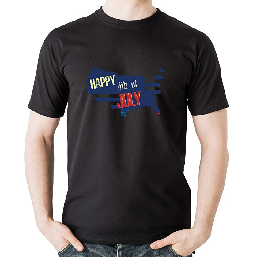 Happy Fourth of July 2 - Independence Day Casual Print T-Shirt American 4th July