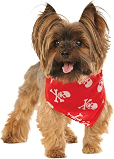 Rubies Skulls and Bones Pet Bandana