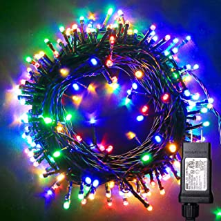 Blingstar Christmas Lights Colored String Lights 33ft 100 LED Waterproof Multicolor Twinkle Lights 8 Modes 30V Plug in Fairy String Lights for Indoor Outdoor Xmas Tree Bedroom Garden Party Decor