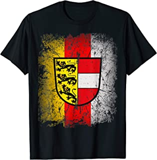 Carinthia T-Shirt with Coat of Arms and Flag Retro Kaernten T-Shirt