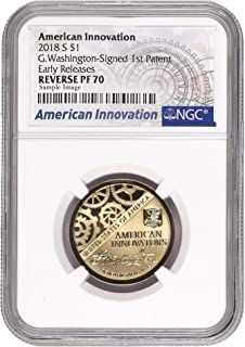 2018 S American Innovation $1 Coin Reverse Proof Early Release Label Dollar REVPF70 NGC