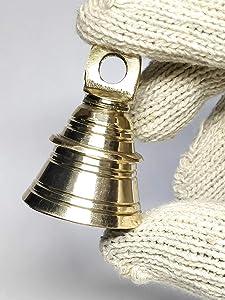 AzKrafts Lot 8 Elephant Camel Cow Brass Bells 2