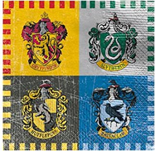 Boys Girls Ladies Mens Harry Potter Birthday Party Celebration Tableware Paper Plates Cups Napkins Table Cover (25cm Napkins)