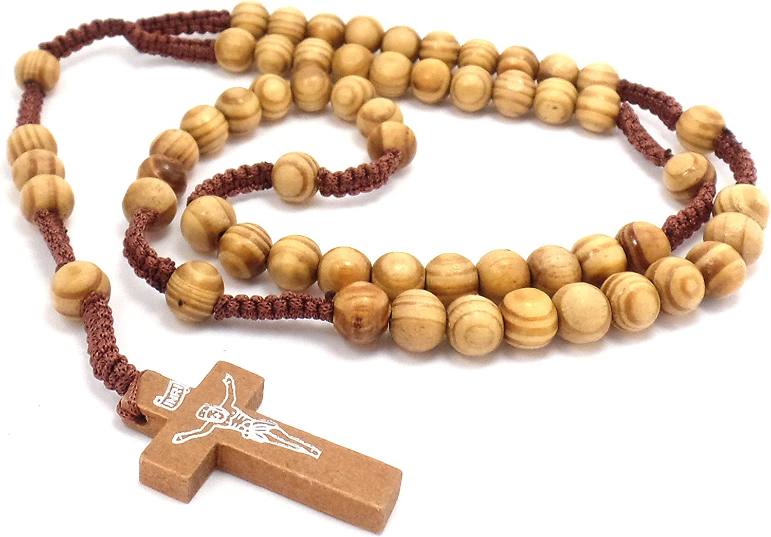Beautiful Handmade El Paso Mall Macrame Rosary Necklace Light - Cord Brown New arrival an
