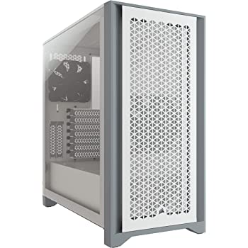 Corsair 4000D Airflow Tempered Glass Mid-Tower ATX PC Case - White