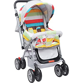 R for Rabbit Lollipop Lite Colorful Baby Stroller and Pram for Baby Kids Infants New Born Boys Girls of 0 to 3 Years(Rainbow Multi Color)