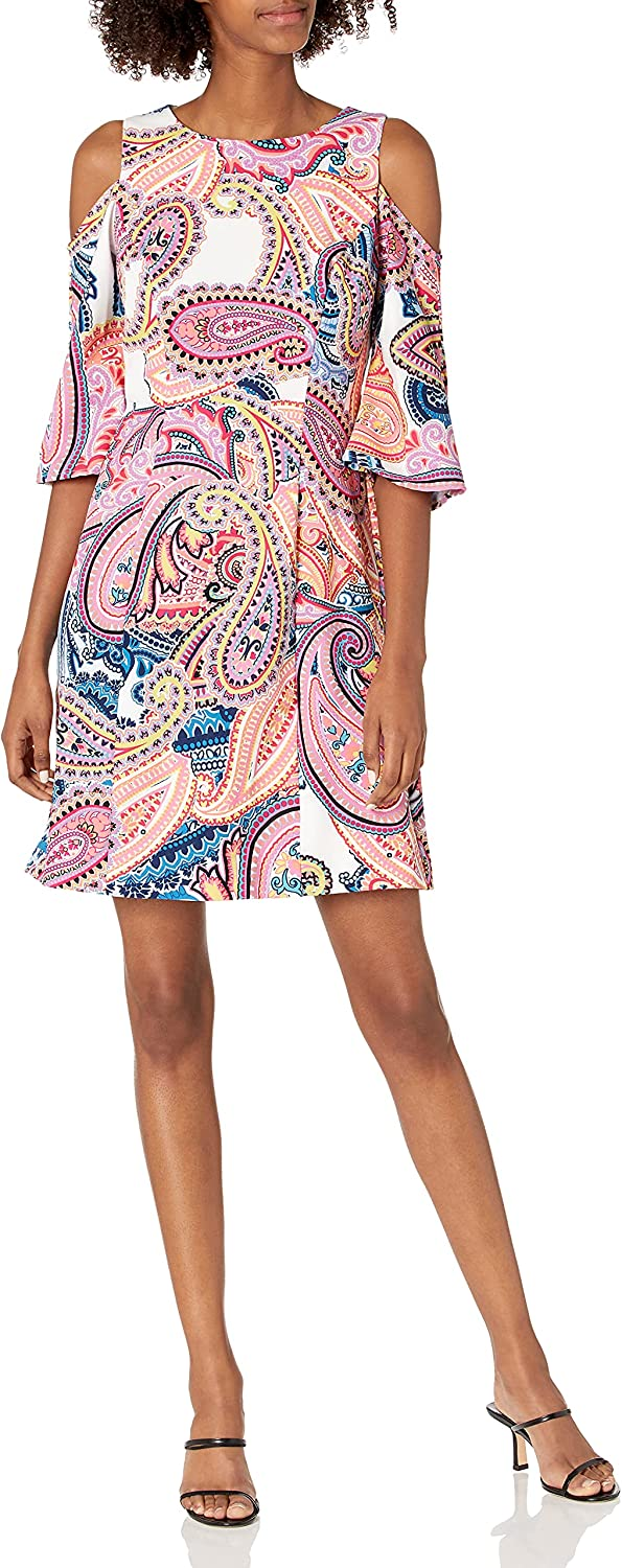 LAUNDRY BY SHELLI SEGAL Women's Shoulder Paisley NEW before selling Cold Cheap SALE Start Dress