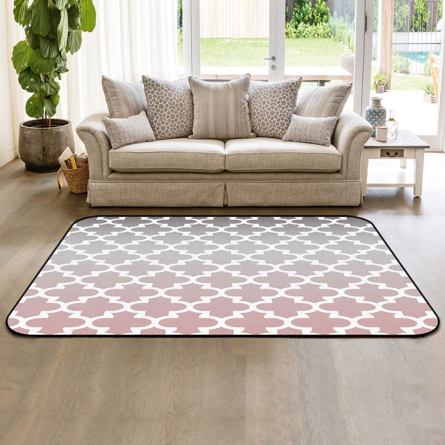 HomeDecorArt Non Slip Indoor Ranking TOP13 Throw Carpet Floor Accent Rugs Omb Shipping included