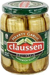 Claussen Deli Style Garlic Sandwich Sliced Pickles (20 oz Jar)