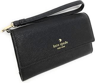 Kate Spade New York iPhone Wristlet Case Wallet Black Saffiano Leather