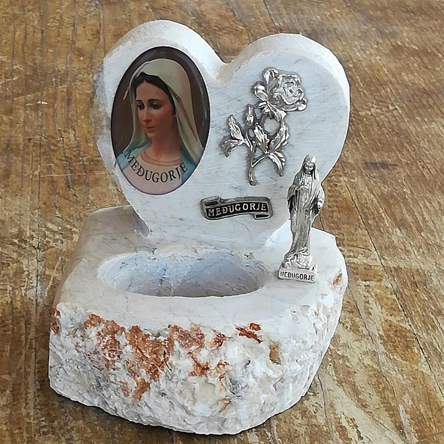 Handmade Holy Water Font Classic Virgin Mary Statue o out Catholic Max 68% OFF Heart