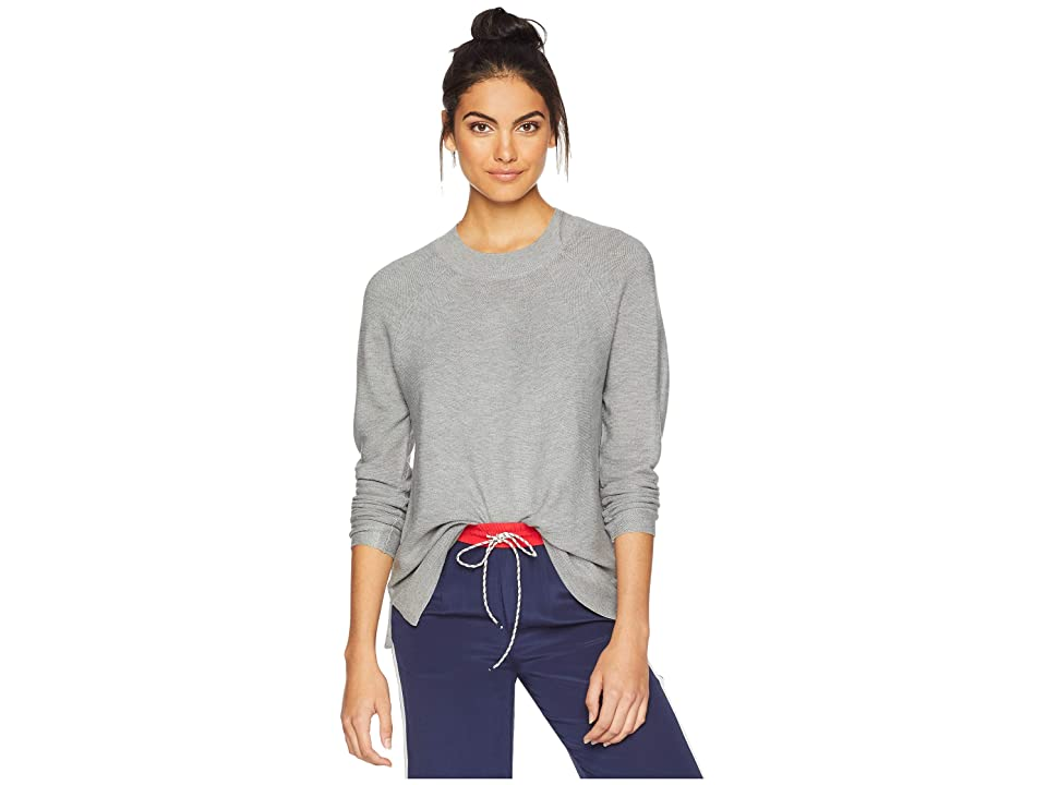 Calvin Klein Lightweight Sweater w/ Stitch (Heather Granite) Women
