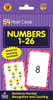 Carson Dellosa - Numbers 1 to 26 Flash Cards - 54 Cards for Recognizing Digits and Counting for Preschool Toddlers, Ages 4+ (Brighter Child Flash Cards) (Packaging May Vary)