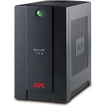 APC Back-UPS Line-Interactive 700VA 4AC outlet(s) Tower Black uninterruptible power supply (UPS)