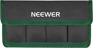 Neewer DSLR Battery Bag Holder Case for AA Battery and lp-e6 lp-e8 lp-e10 lp-e12 en-el14 en-el15 fw50 f550 and More, Suita...
