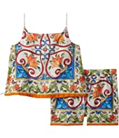 Dolce & Gabbana Kids - Dress No Sleeve+Pants (Toddler/Little Kids)