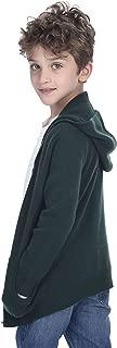 State Cashmere Unisex Kids Zip Up Hoodie Cashmere Merino Wool Long Sleeve Cardigan Sweater with Kangaroo Pocket