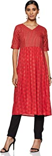 Indi lite Women's cotton empire Salwar Suit Set