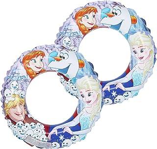 com-four® 2X Neumáticos de natación de la película de Disney Frozen - Anillo de natación con Motivos de Anna, Elsa, Olaf y Kristoff (02 Piezas - Ø 45cm La Reina de Hielo)