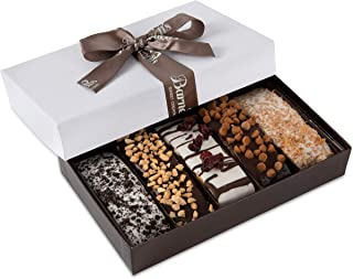Barnett's Gourmet Chocolate Biscotti Gift Basket, Christmas Holiday Him & Her Cookie Gifts, Prime Unique Corporate Men Wom...