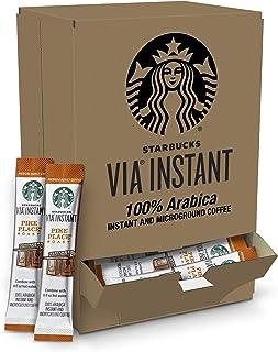 Starbucks VIA Instant Coffee Medium Roast Packets — Pike Place Roast — 1 box (50 packets)